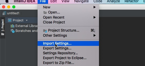 How to change the subject in IntelliJ Idea